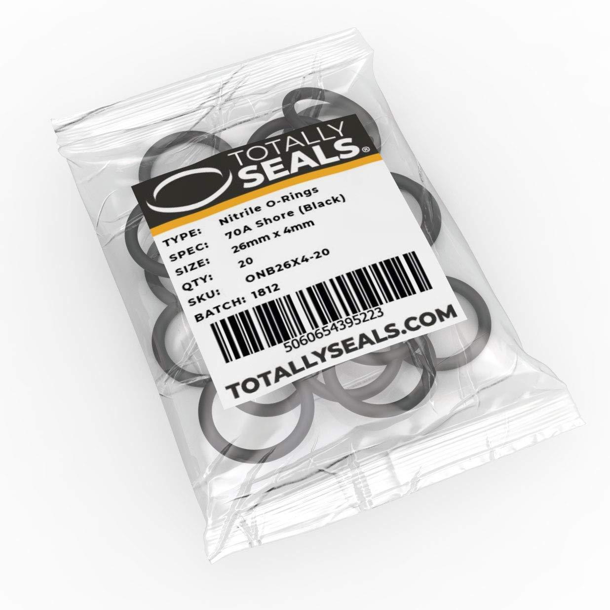 Elija el tama/ño del paquete anillos de goma de nitrilo 70A dureza de la orilla Negro 26 mm x 4 mm 34 mm OD