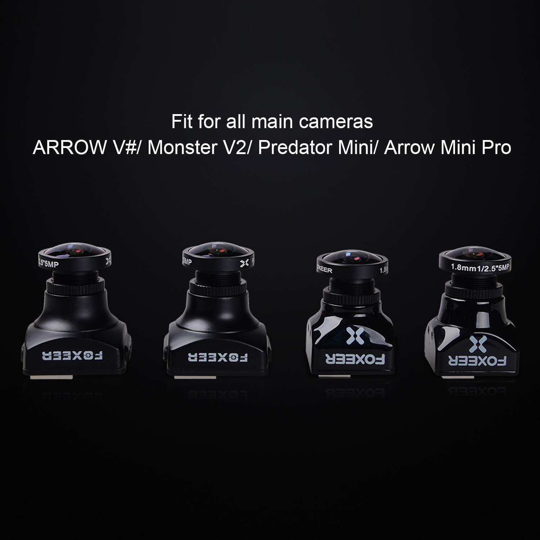 FALCORC FOXEER FPV Camera Lens, 140° Wide Angle 1.8mm Camera DV Lens Replacement 5MP Lens for Arrow/Monster/Predator/Falkor Camera(IR Sensitive)