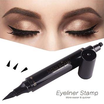 52257c5c1a3 Winged Eyeliner Stamp 2 in 1 - Waterproof, Smudgeproof, Winged Long Lasting Liquid  Eye