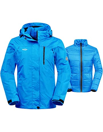 Wantdo Women s 3-in-1 Waterproof Ski Jacket Interchange Windproof Puffer  Liner Warm Winter afb973b3f99e