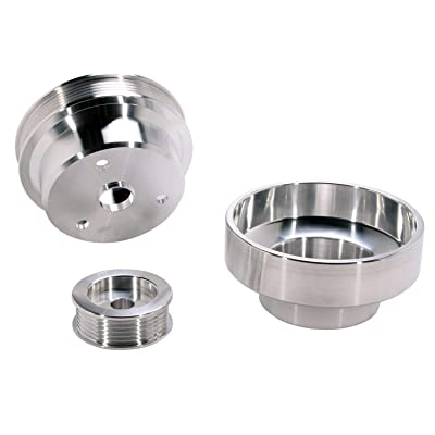 BBK 1603 Underdrive Pulley Kit for GM Truck 4.3/5.0/5.7L - 3 Piece CNC Machined Aluminum: Automotive