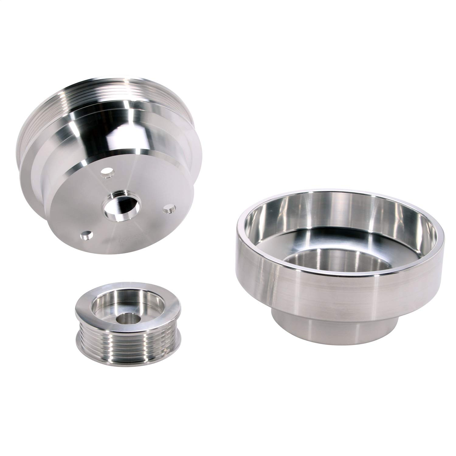 BBK 1603 Underdrive Pulley Kit for GM Truck 4.3/5.0/5.7L - 3 Piece CNC Machined Aluminum by BBK Performance