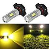 5202 amber led fog light bulbs - Alla Lighting 3200 Lumens Newest Version High Power 3030 27-SMD Super Extremely Bright 3000k Gold Yellow 5202 5201 PS19W LED Bulb for Fog Light Bulbs Lamp Replacement