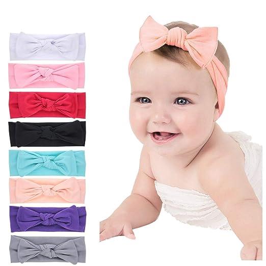1c5254c780a7 Amazon.com  Baby Headbands Turban Knotted