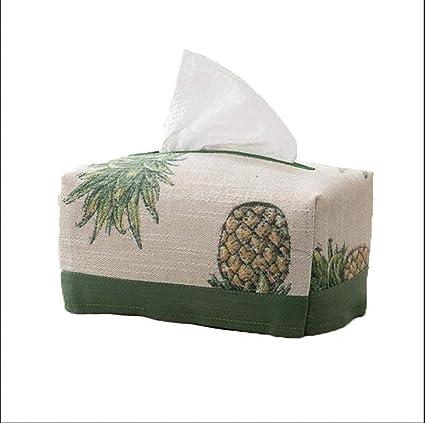 LILINA Original Pastorale Estilo Tejido Caja plástico Verde Piña Tejido Papel Toalla setzen Kleine los Restos