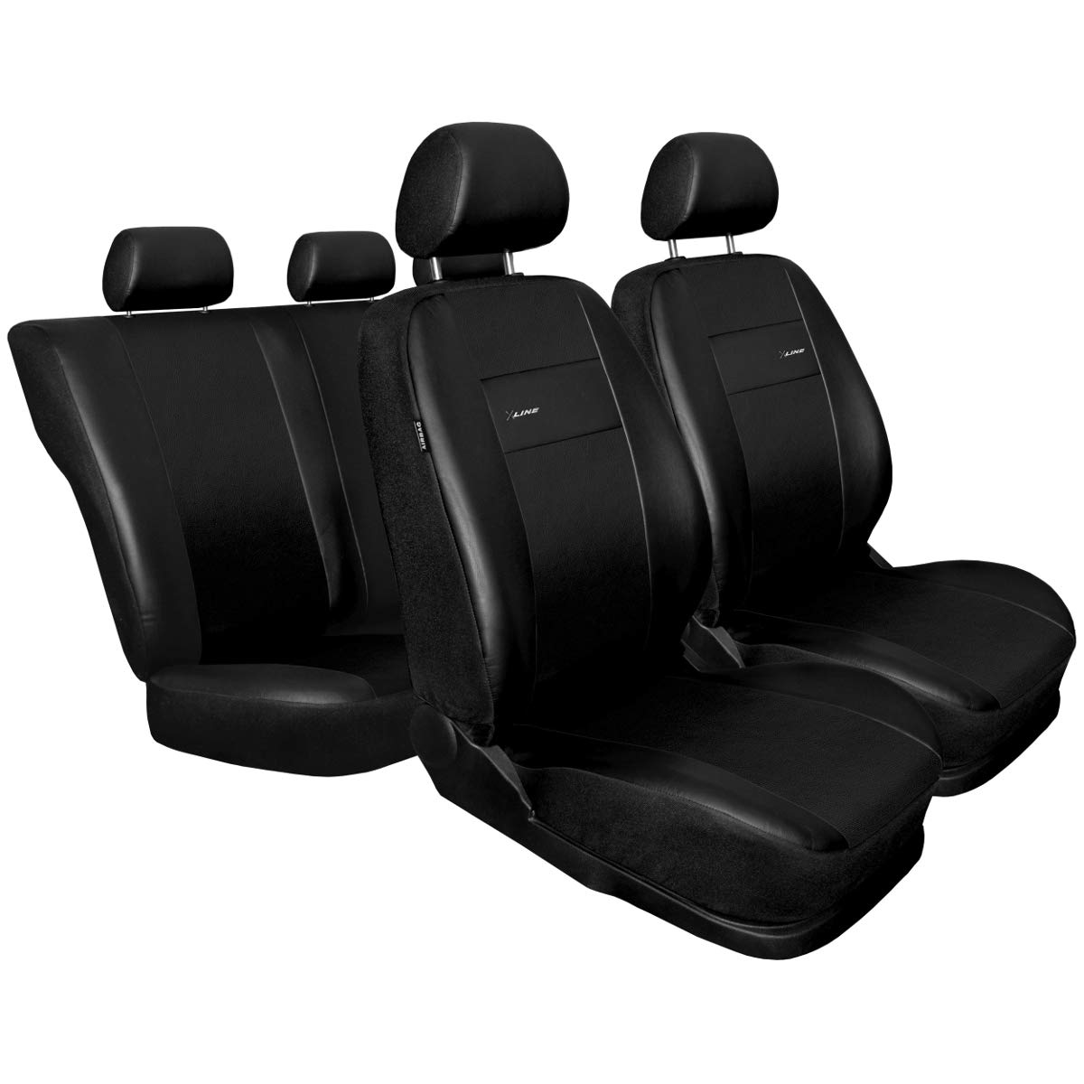 Mossa XL-B Universal Car Seat Covers Set - faux leather - 5902538593243