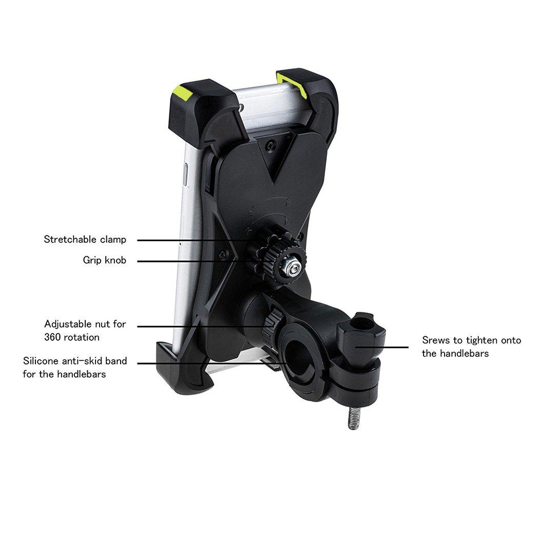 H-Min Fahrrad Handyhalter Anti-Rutsch Universal Verstellbar Handyhalter Wiege Mit Schlossknopf F/ür Smartphones Von 4 bis 7 Zoll