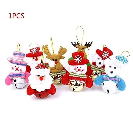 christmas tree decorations plush santa claus with jingle bell xmas pendant merry christmas hanging ornaments by - Santa Claus Christmas Tree Decorating Ideas
