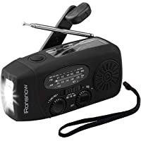 (Upgraded Version) iRonsnow Solar Emergency NOAA Weather Radio Dynamo Hand Crank Self Powered AM FM WB Radios 1 LED…