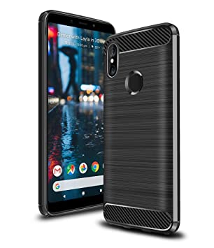 Ferilinso Xiaomi Redmi S2 Case, Flexible Hybrid Defender Shockproof  Protective Case Carbon Fiber Design Cover for Xiaomi Redmi S2(Black)