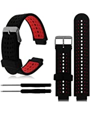 Garmin Forerunner 235 Replacement Fitness Wristband Bracelet Tracker Silicone Wrist Band (Outside Black)