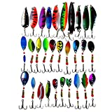 APG Lot 30pcs Colorful Metal Fishing Lures Minnow Poper Baits Tackle Crankbait Assorted Fish Hooks