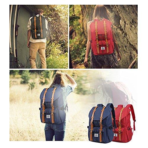 "Travel Laptop Backpack, Outdoor Rucksack, School backpack Fits 15.6""(Nylon Red)"