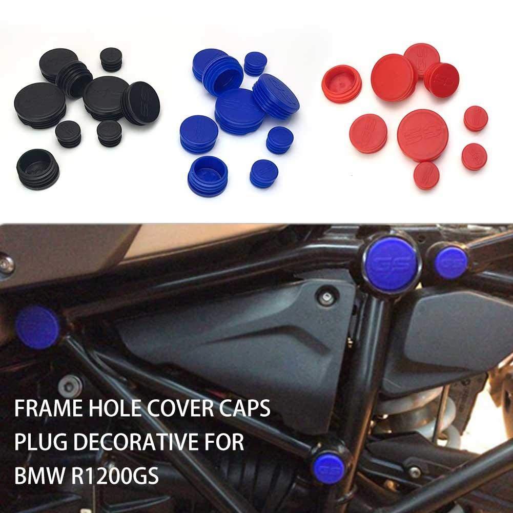 Sroomcla Copertura del Foro del Telaio del Motociclo di 9pcs Tappi di Spina Decorativi per BMW R1200GS R 1200 GS R1200 LC LC Frame Frame cap Adventure Set