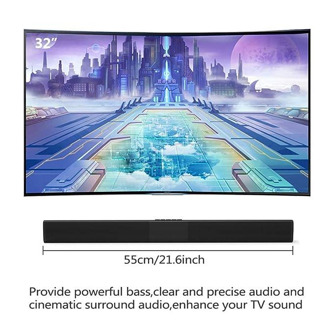 Mobile Porta Tv Con Audio Surround Integrato.Fish 4 2 Di Bluetooth Sound Bar Wireless E Wired Audio Home