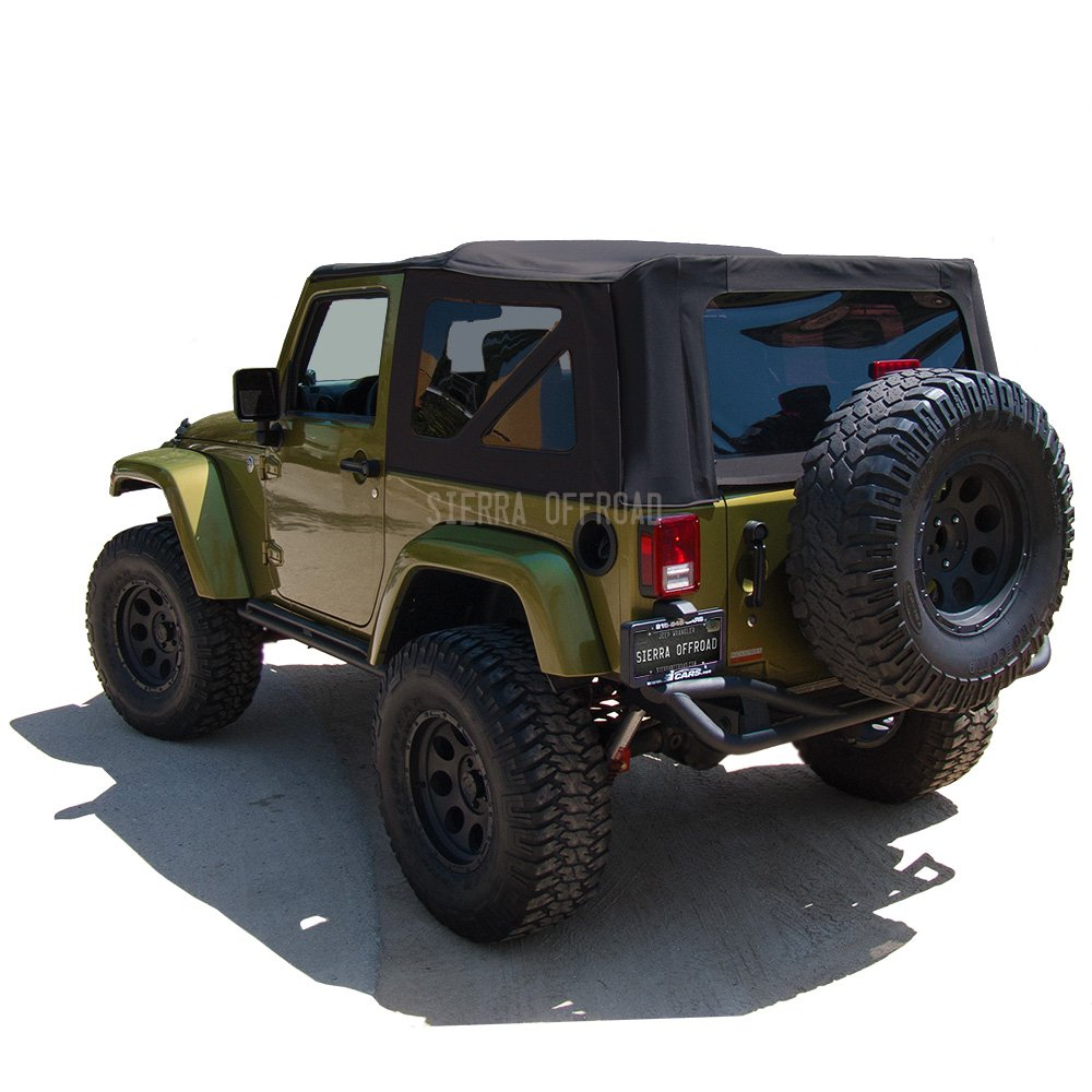 Black Twill Vinyl Sierra Offroad Jeep 2010-2018 Soft Top