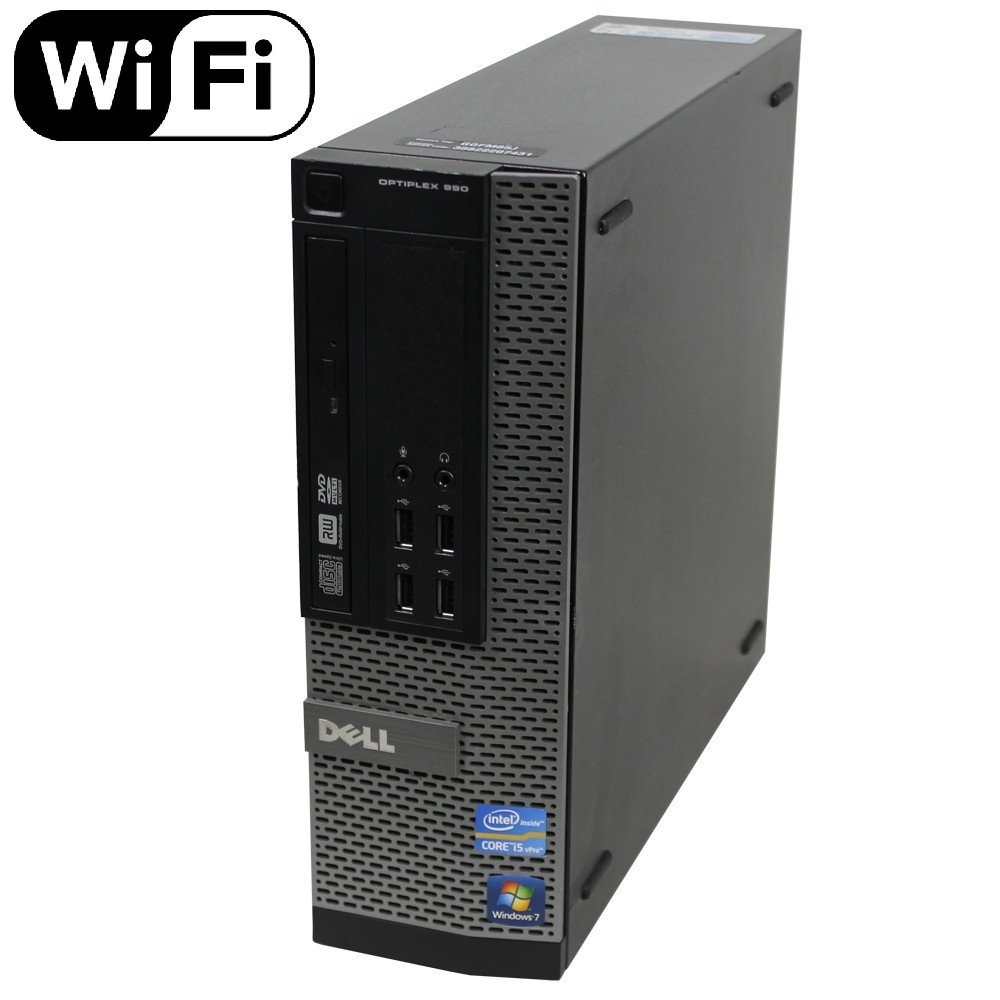 Dell Optiplex 990 SFF Flagship Premium Business Desktop Computer (Intel Quad-Core i5-2400 up to 3.4GHz, 16GB RAM, 2TB HDD, DVD, WiFi, VGA, DisplayPort, Windows 10 Professional) (Renewed)