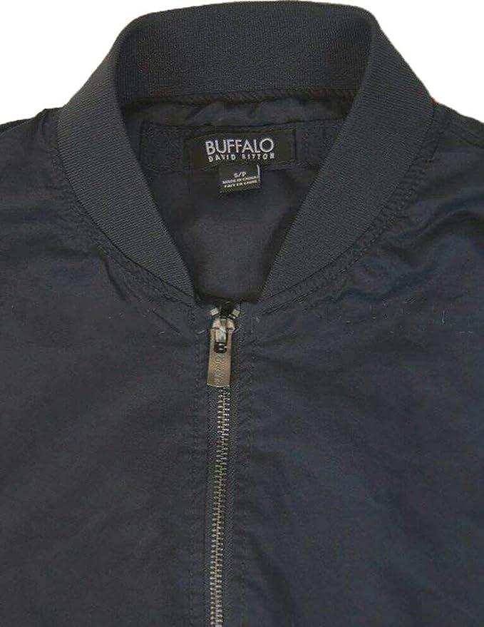 Navy, Small Buffalo David Bitton Womens Lightweight Zipper Jacket