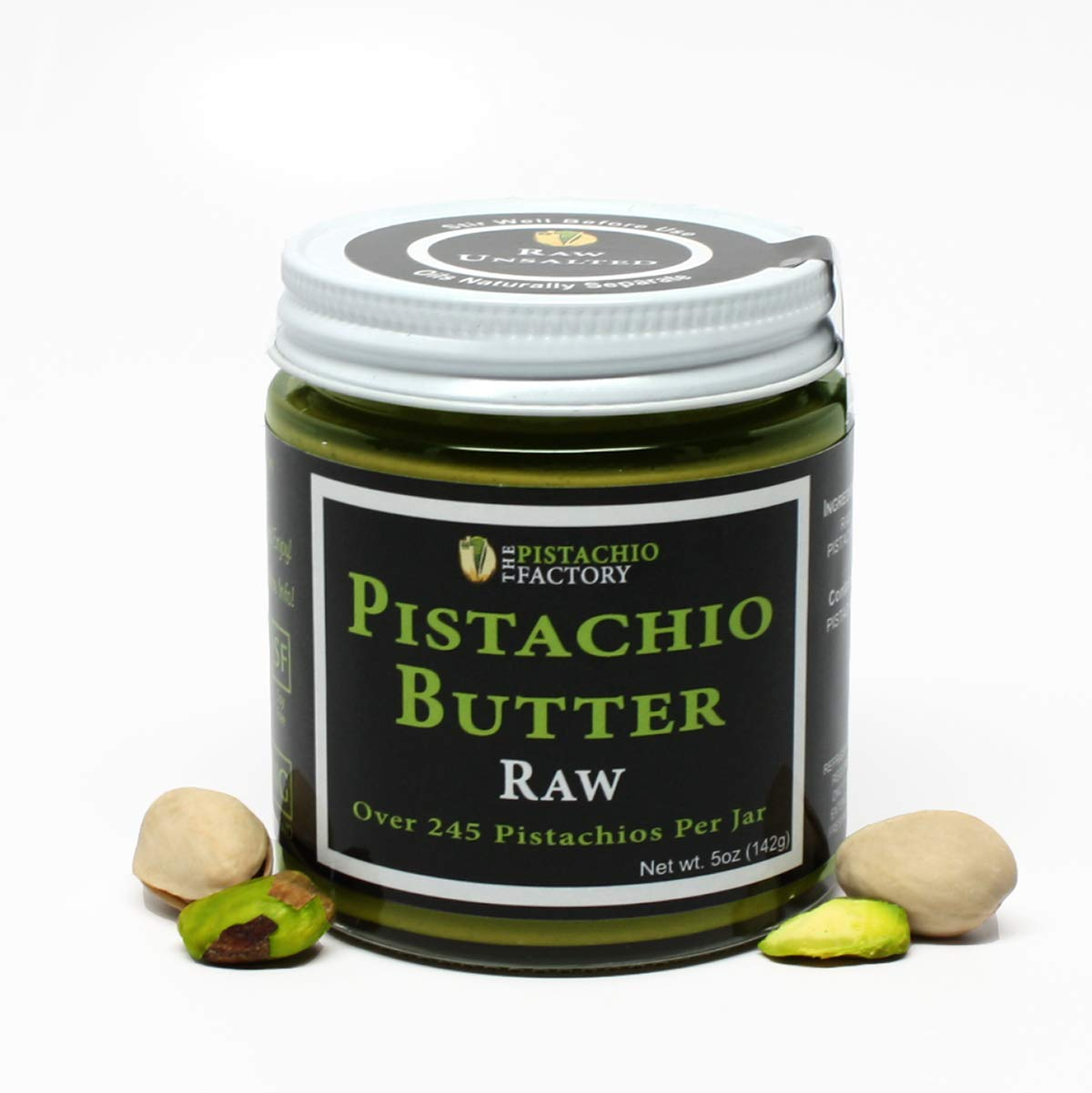 Pistachio Butter - Raw Unsalted by The Pistachio Factory