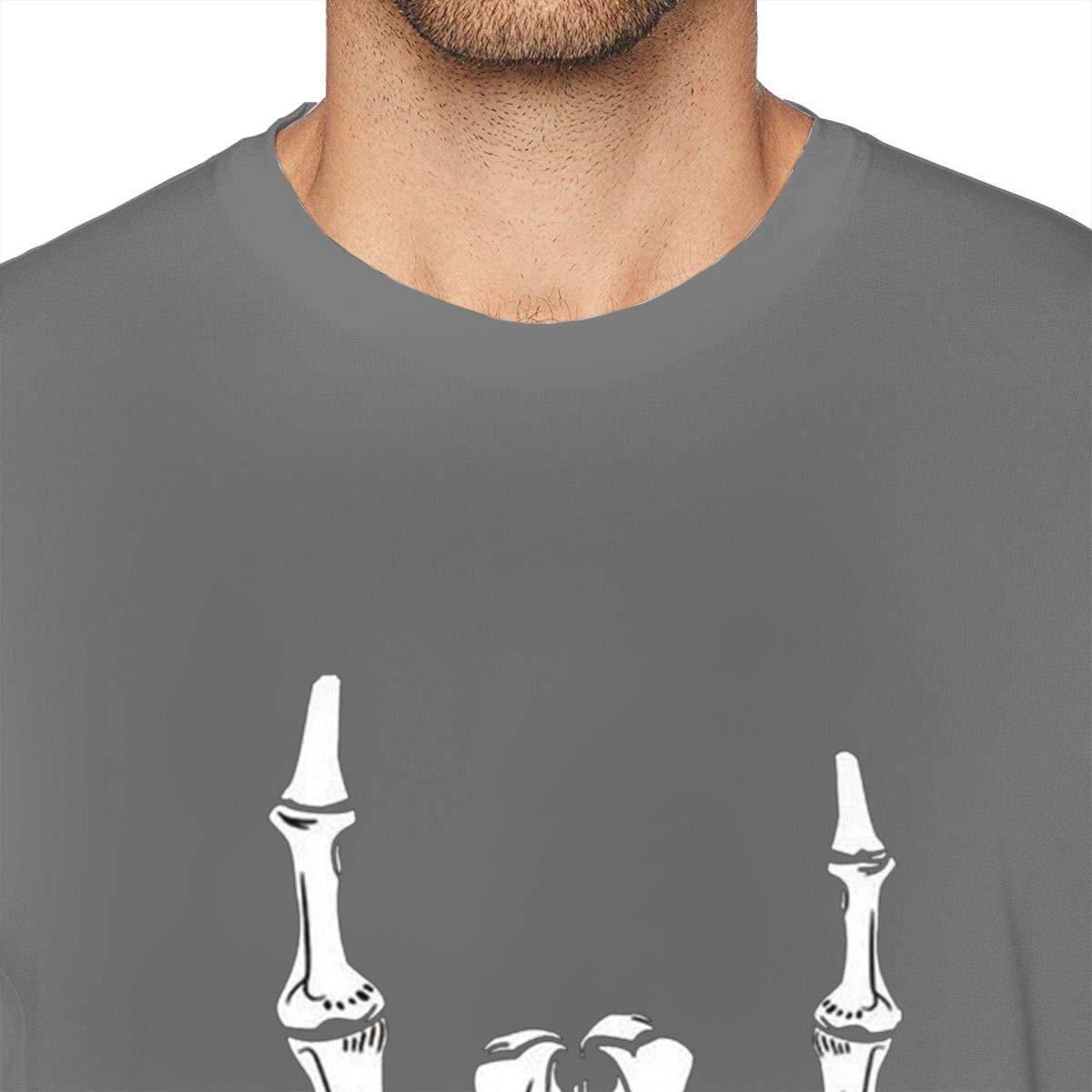 SUMT4men Human Skeleton Mens Crew Neck Short Sleeve T-Shirt Casual Shirt for Men