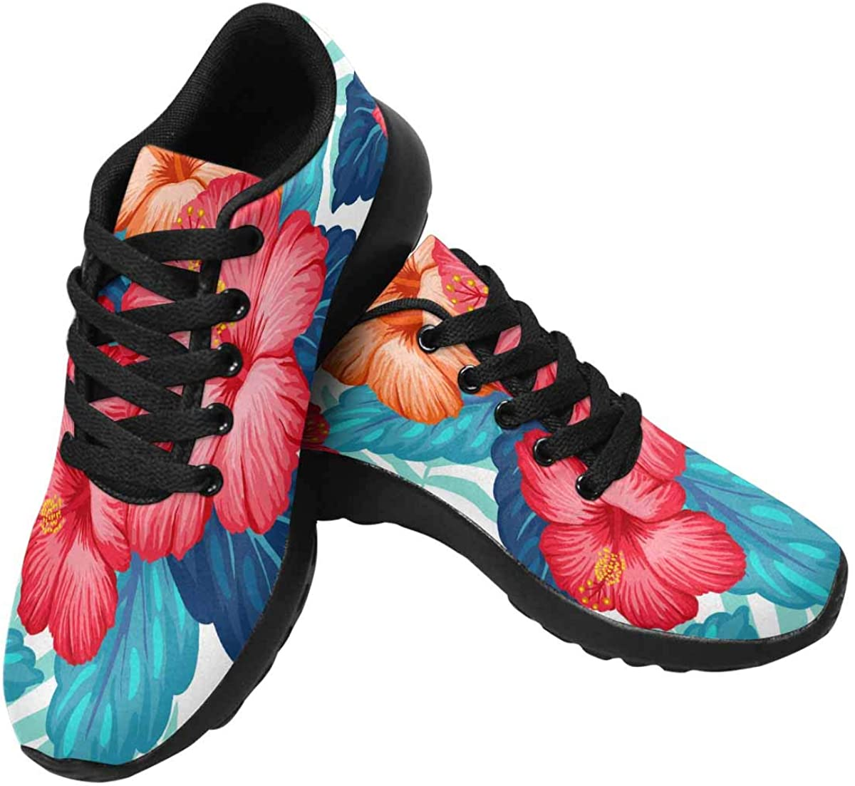 INTERESTPRINT Women s Running Shoes Lightweight Non-Slip Breathable Walking Shoes US6-US15