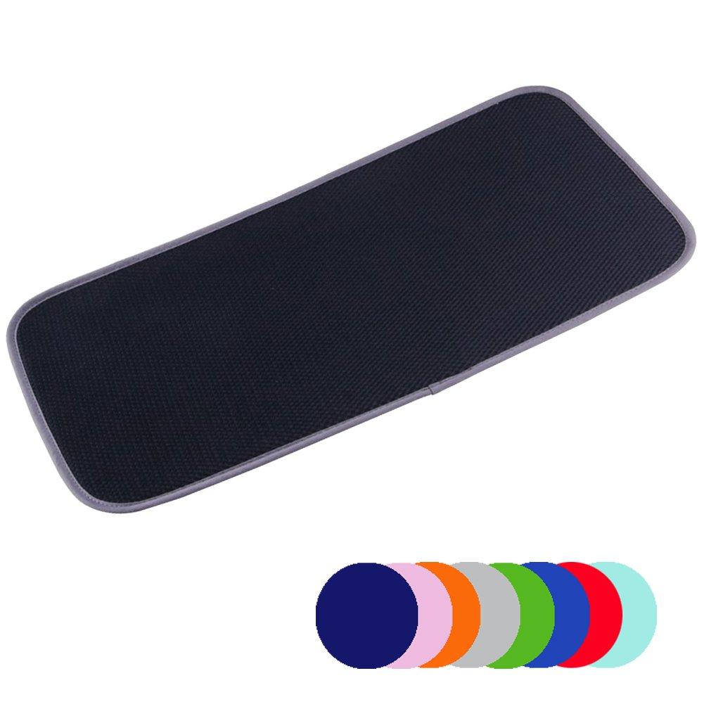 Jovilife Dish Drying Mat Kitchen Mat(set of 2) Microfiber Absorbent Washable, 9*18 Inch, Black Haifu