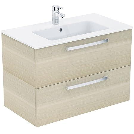 Ideal Standard Waschtisch/Möbel Paket EUROVIT, 815x450x565mm, Weiß / Eiche  Hell, K2978OS: Amazon.co.uk: Kitchen U0026 Home