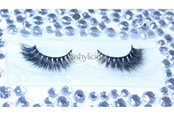 52ef3926c33 Amazon.com : Fluffylicious 100% 3D Mink Eyelashes by Lashylicious Natural  Fluffy With Super Felxible Band and Useable 20+ times - Glamorous Thick  Fake ...