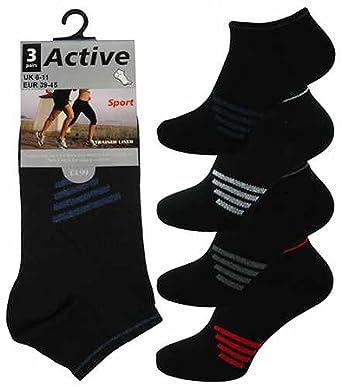 6 Pairs Men/'s Trainer Socks Plain White UK 6-11 EU 39-45