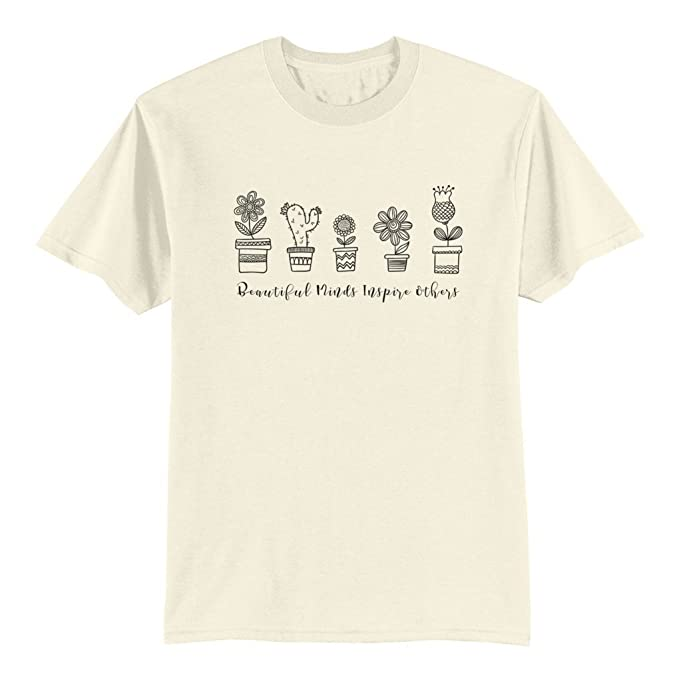 bf8edf119 Amazon.com: Unisex Adult T Shirt - Beautiful Minds Inspire Others ...
