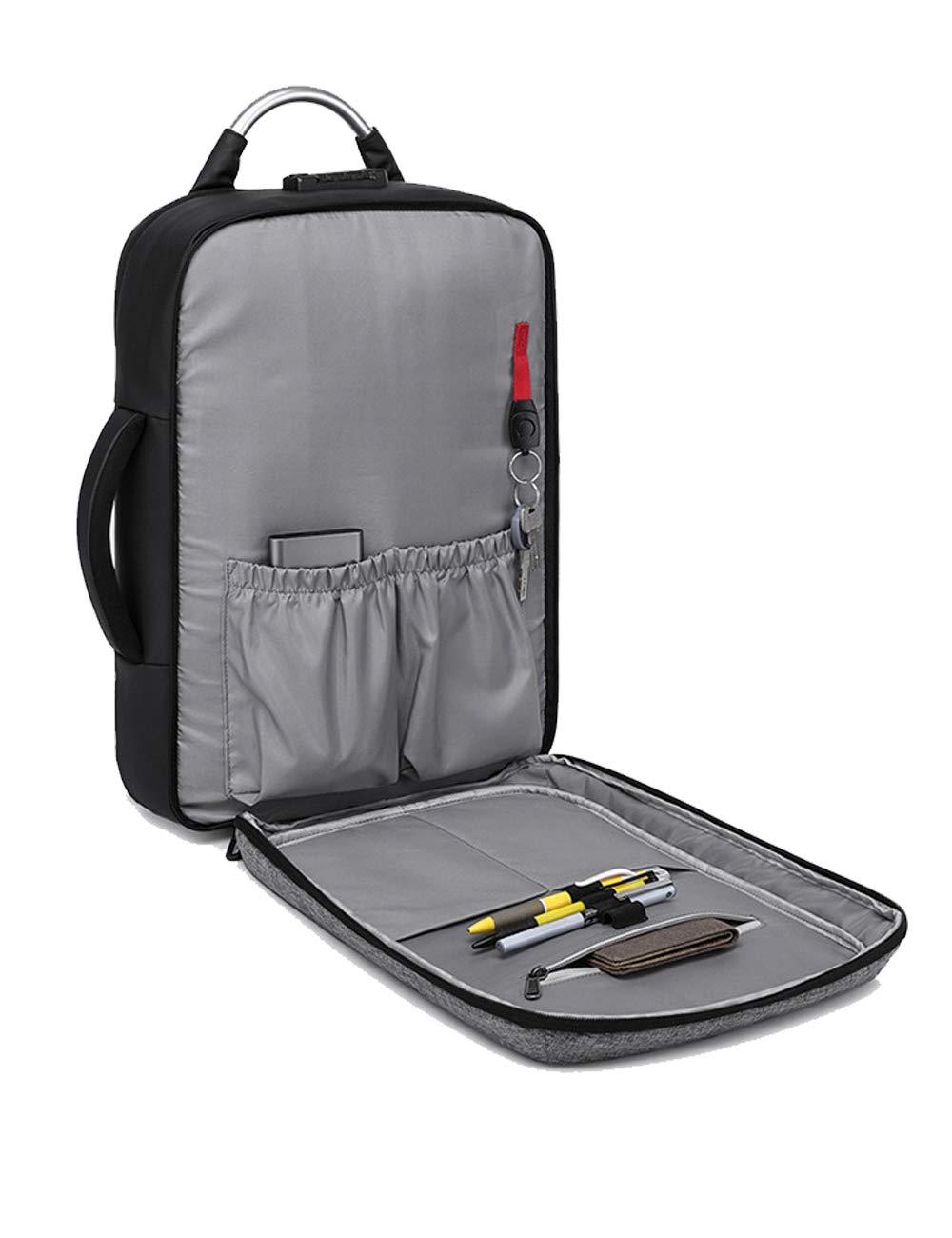 Unisex Oxford Impermeable Anti-Robo Mochila de Carga portátiles USB para 15.6'' portátiles Carga Negro-Gris 277599
