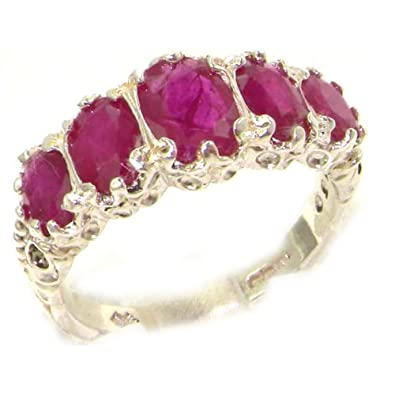 Antique Style Solid Yellow 9ct Gold Natural Ruby Ring with English Hallmarks - Finger Sizes K to Z Available BUDfIM