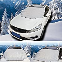 BSTPOWER Windshield Snow Cover Car Snow Cover Windproof Ice Frost Guard Protects Windshield Wiper with Magnet Universal for Car, SUV, Rv and Van