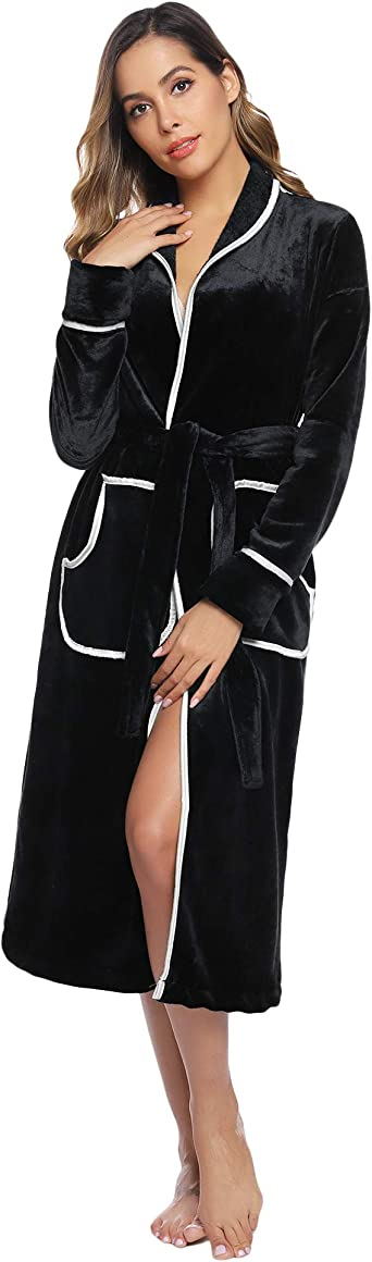 spa robe Luxury velour robes hooded bathrobes for women supersoft midi robe women Terry bathrobe