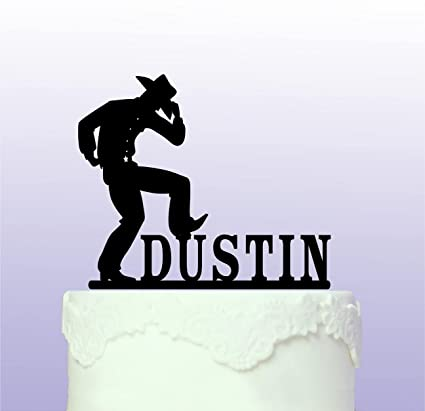 Amazon Personalised Cowboy Western Cake Topper Custom