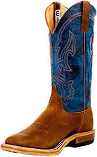 product image for Anderson Bean Mens Crazy Horse Leather Briar Vamp w/ 13 Danube Mad Dog Top Cowboy Boot