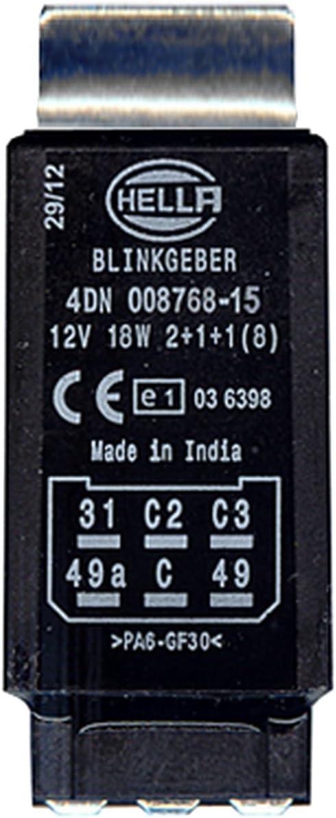 Hella 4dn 008 768 151 Blinkgeber 12v 6 Polig Elektronisch Mit Halter Mit Zubehör Auto