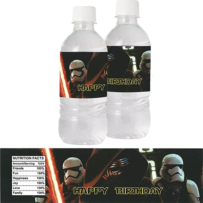 Star Wars Bottle Labels (8 Supplied): Amazon co uk: Toys & Games