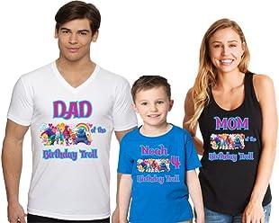 2d756dd3ee31c Go Custom Happy Birthday Boy Girl Family Matching Shirt Troll Design