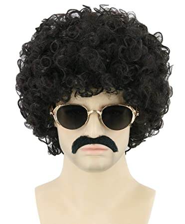 AFRO WIGS CURLY CLOWN 70s 80s FANCY DRESS CHOICE OF COLOURS HAIR HIPPY UNISEX