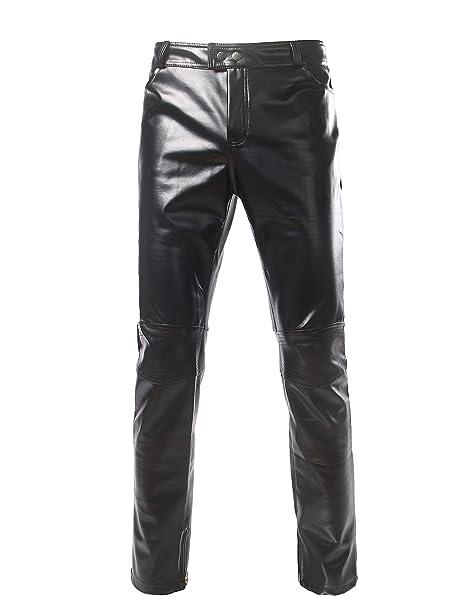 Amazon.com: zeroyaa Mens Geek Diseño Motocicleta jeans ...