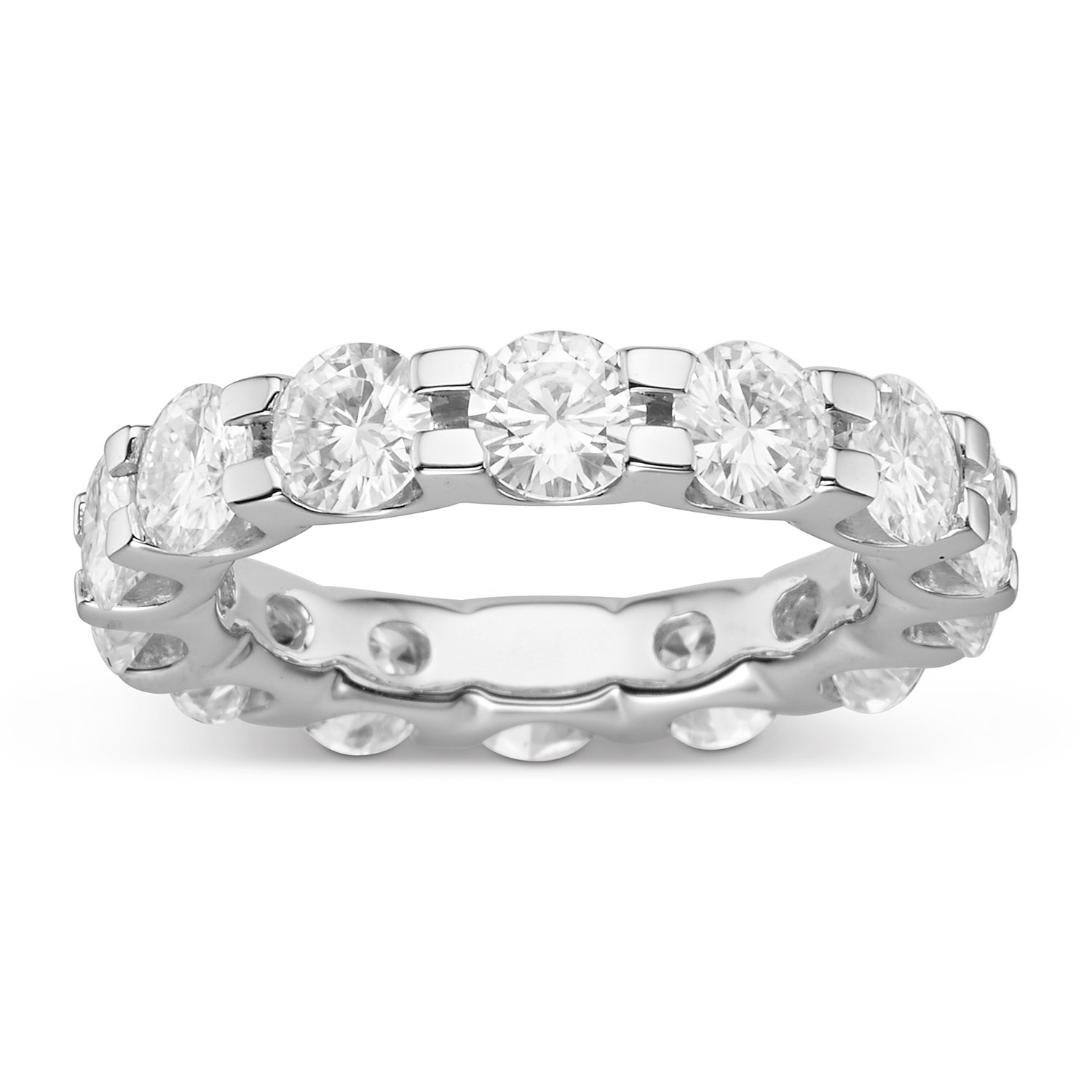 Forever Brilliant Round 4.5mm Moissanite Wedding Band-size 7, 4.62ct DEW by Charles & Colvard