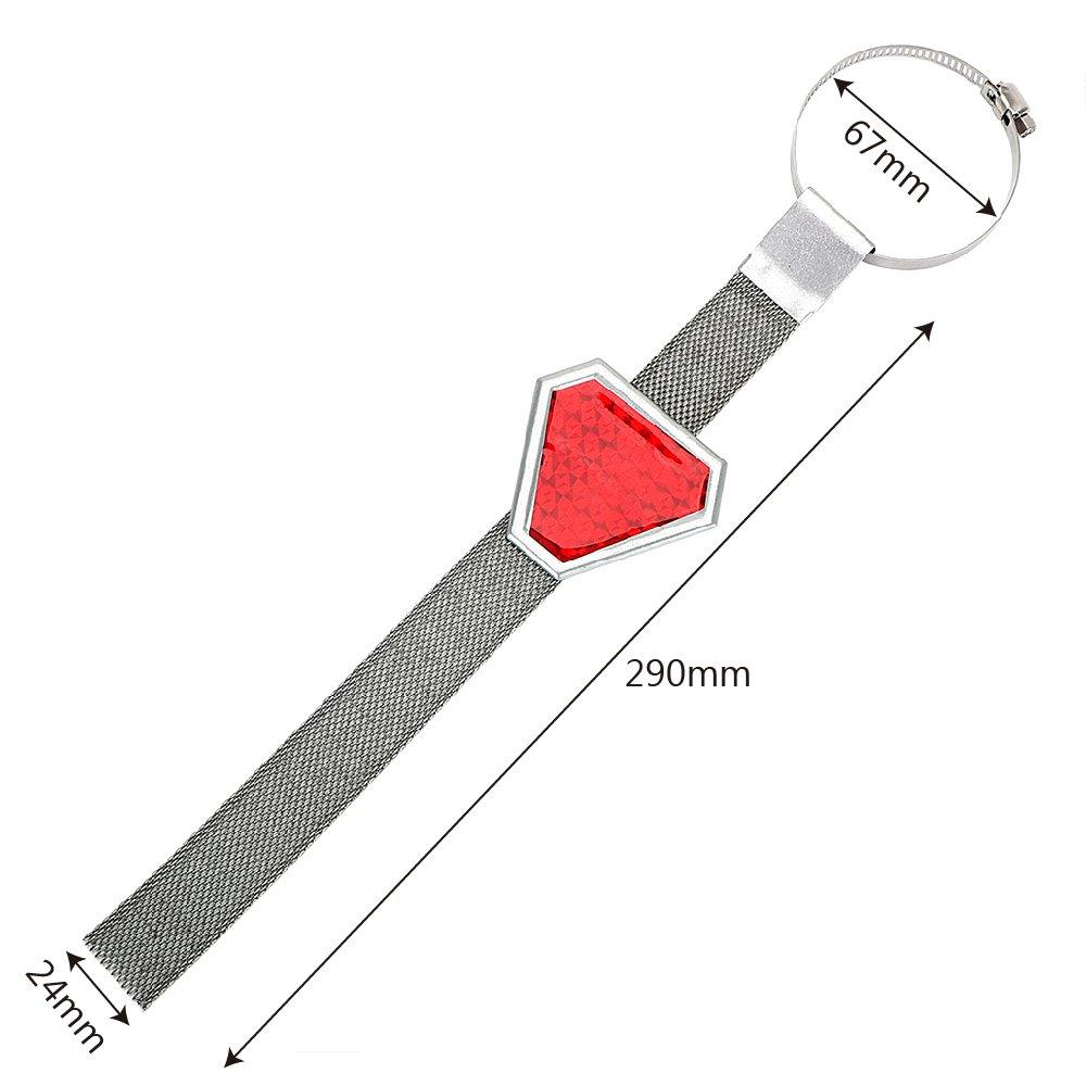 Auto Exterior Accessories antistatico strisce strisce riflettenti rosso