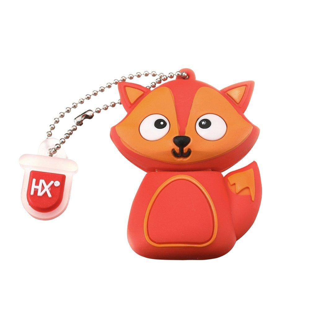 HX Fun Dessin Animé Animal Clef USB 8Go/16Go/32Go Fantaisie Pendrive Clés USB 2.0 Flash Drive Mémoire Stick Cadeau Amusant pour Tous Les âges(32Go, Unicorn) Unicorn) Leaders