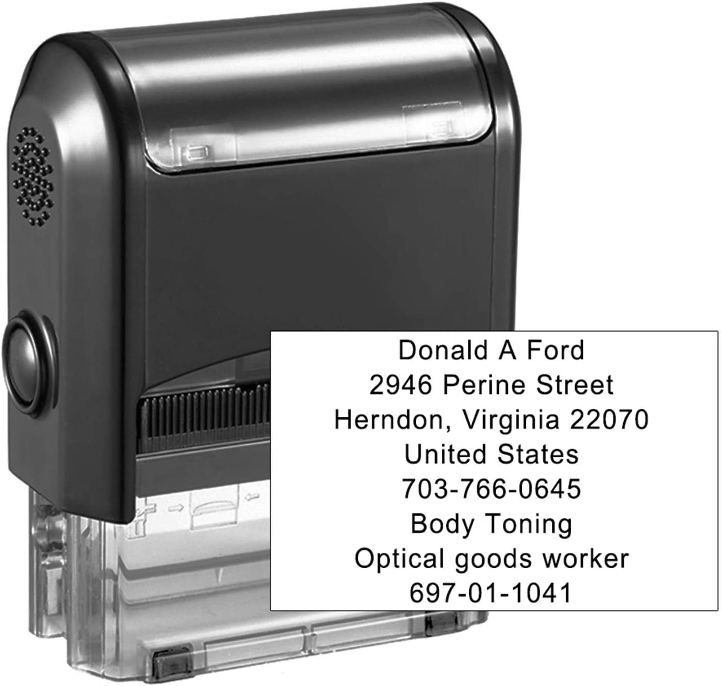 FORD  /_/_/_/_GARAGE SERVICE STAMP PROPER SIZE 47X18mm TOP QUALITY FAST DELIVERY