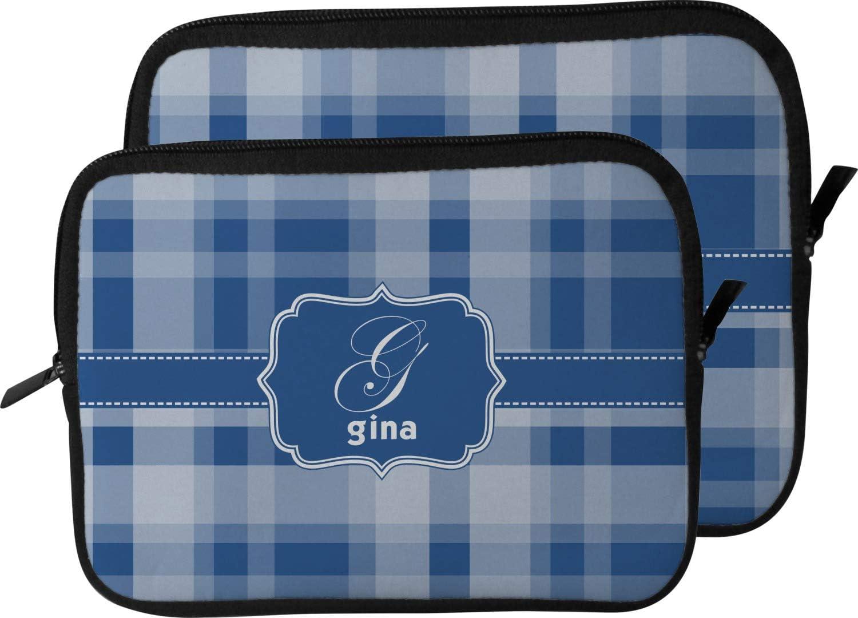 Personalized 15 Plaid Laptop Sleeve//Case