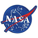 Classic NASA Patch with Hook and Loop for Team Morale (Size: 4.3