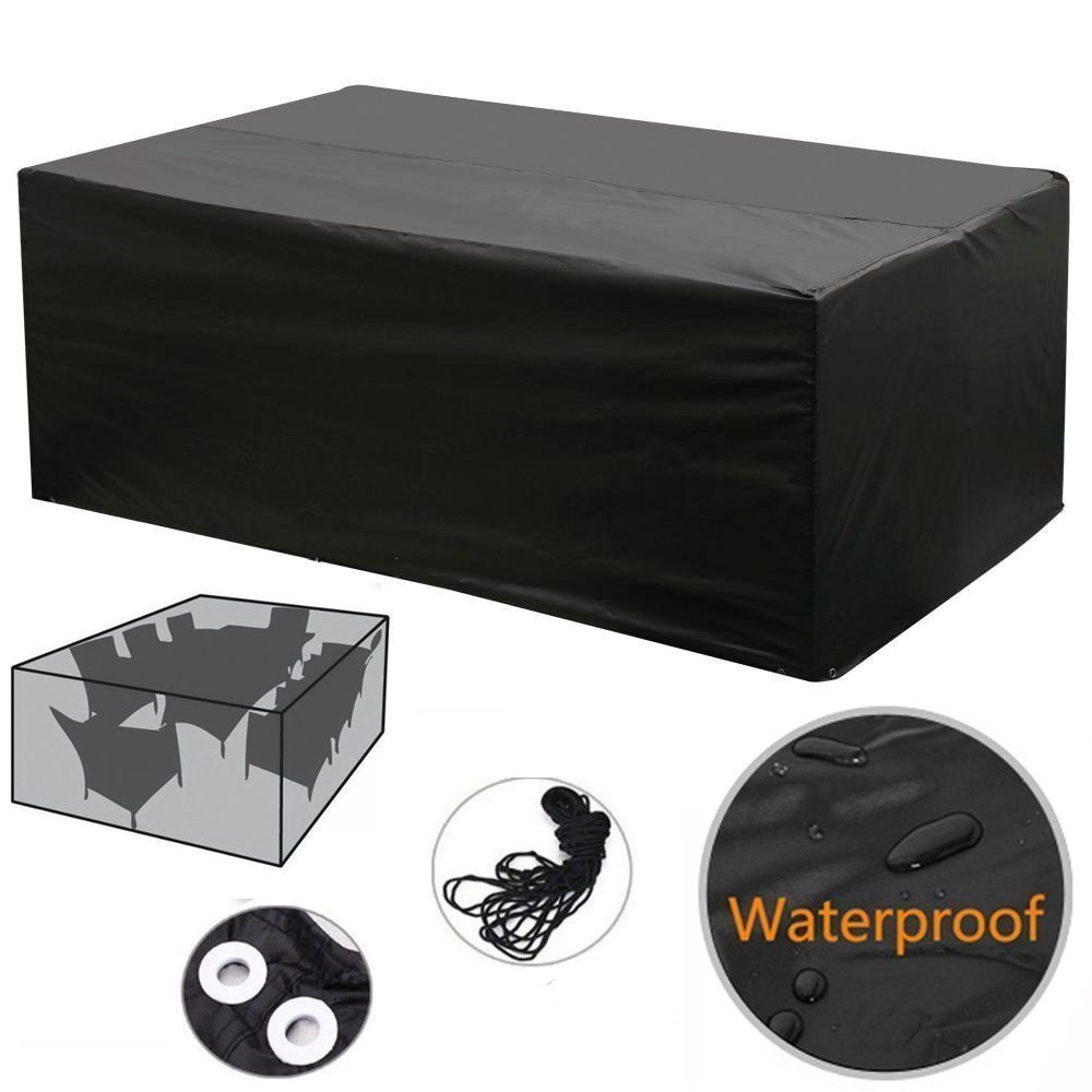 Hosaire Patio Furniture Set Cover Black Waterproof Garden Patio Set Cover Table Chair Set Cover 84 x 52 x 29 Inches