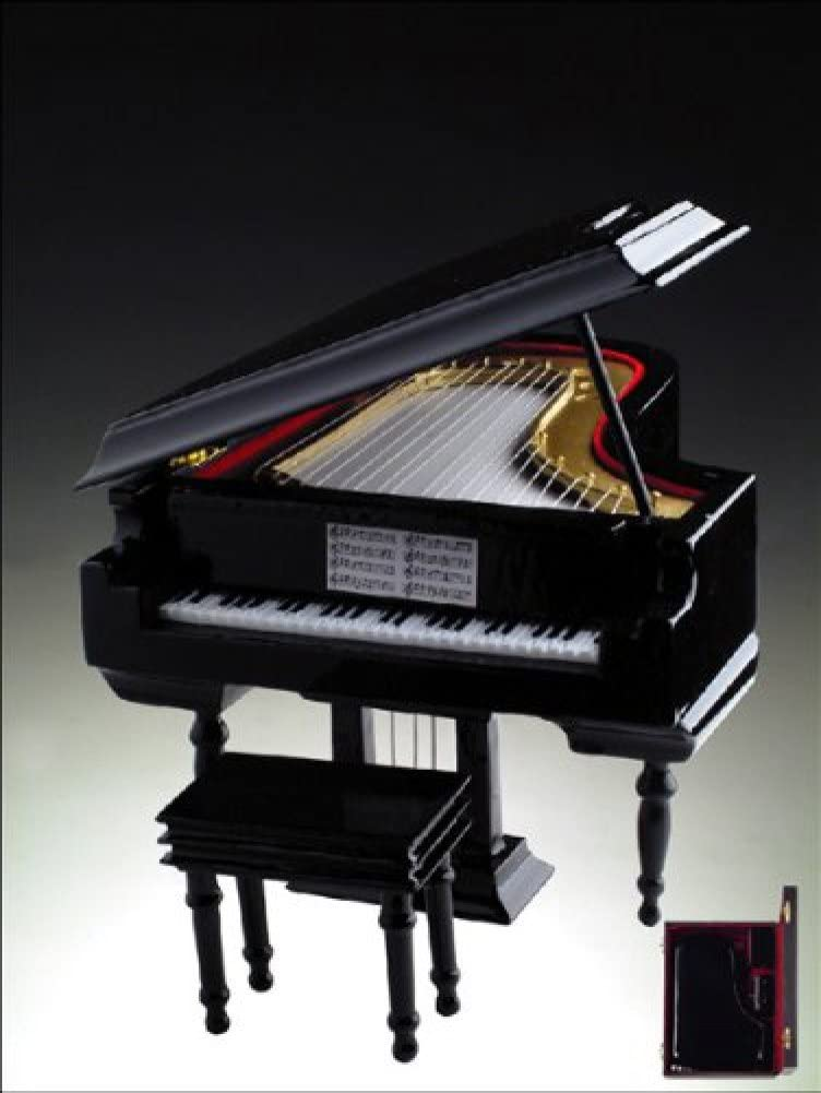 Broadway Gifts:Wave - Black Wooden Grand Piano Music Box 18