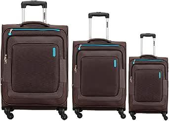 American Tourister Duncan Softside Spinner Luggage Set of 3, with TSA Lock - Black